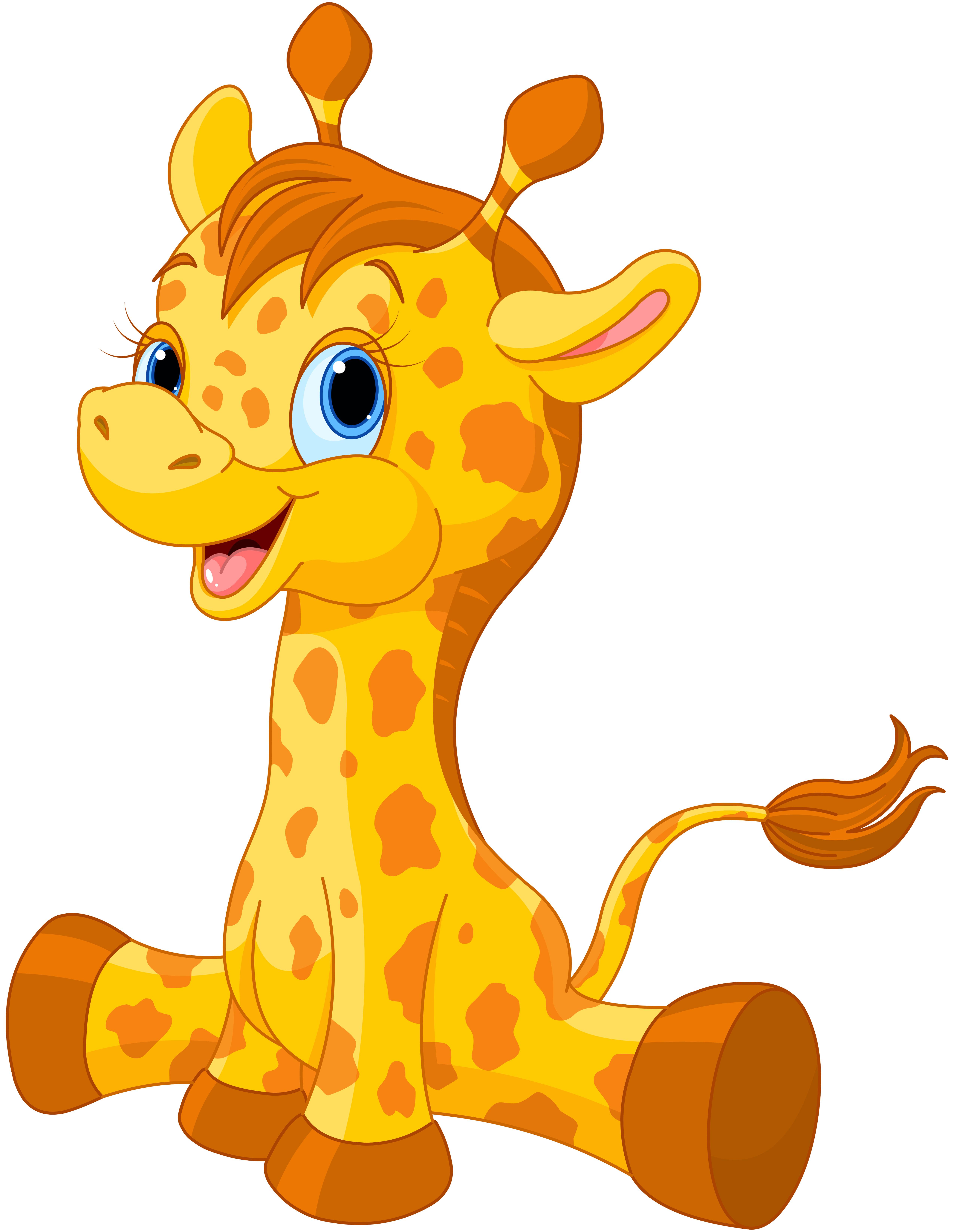 5100x6588 Cute Giraffe Clipart