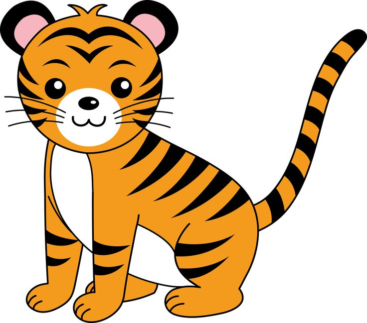 736x649 Cute Baby Tiger Clipart