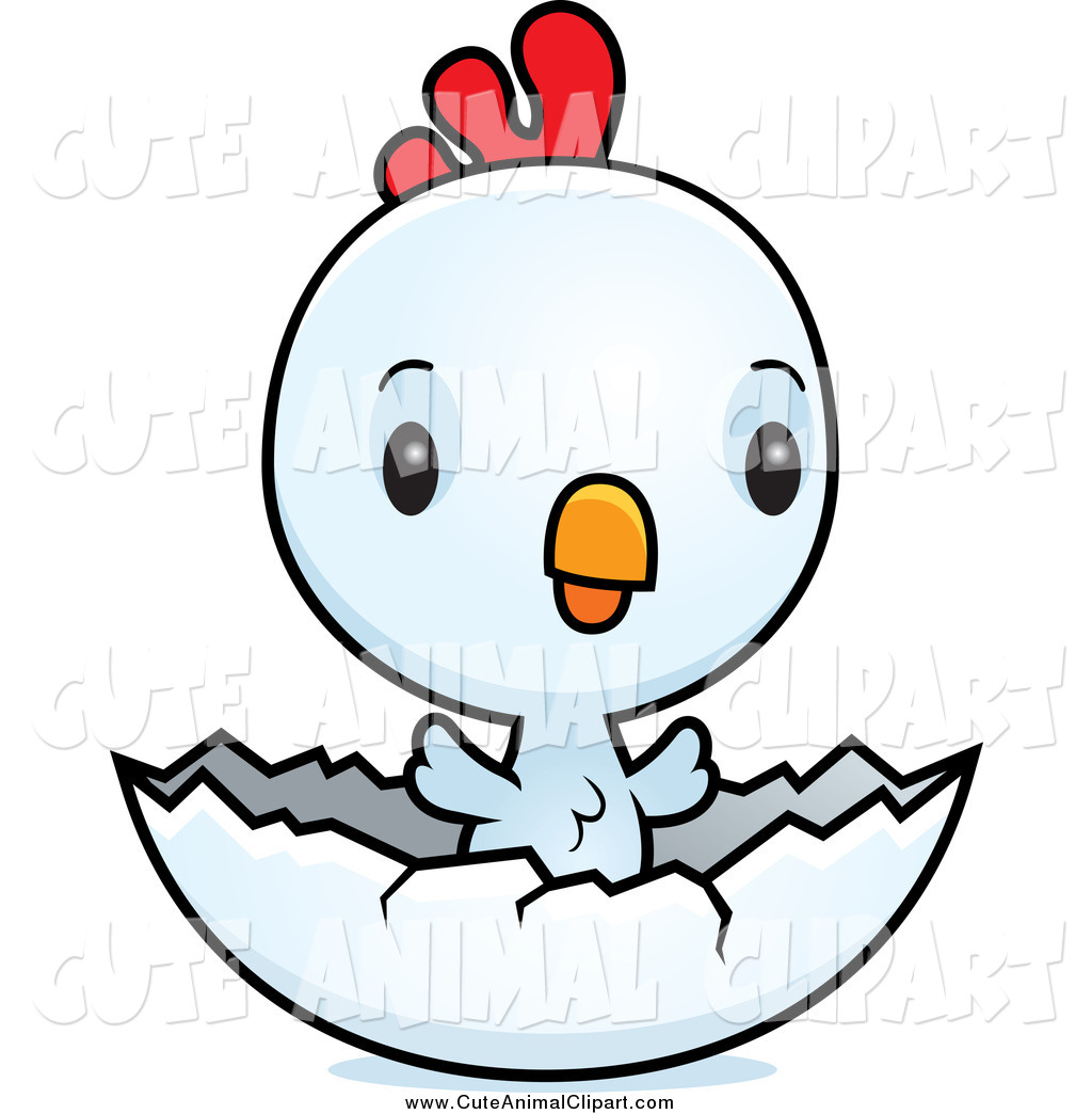 1024x1044 Vector Cartoon Clip Art Of A Cute Baby White Chick Hatching By