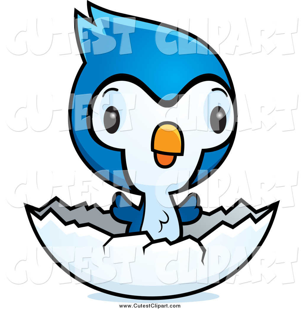1024x1044 Cartoon Vector Clip Art Of A Cute Baby Bluejay Chick In An Egg