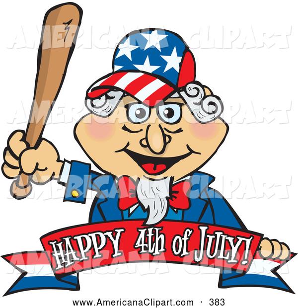 600x620 Americana Vector Cartoon Clip Art Of A American Uncle Sam Holding