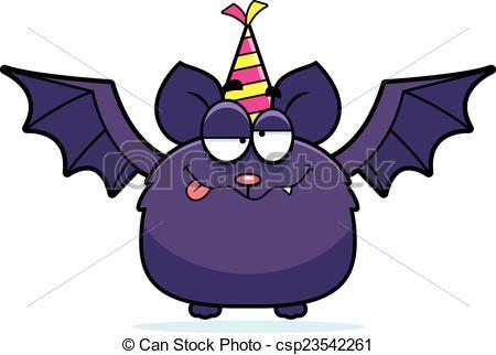 450x322 Cartoon Bat Drunk Party. A Cartoon Illustration Of A Bat Clip