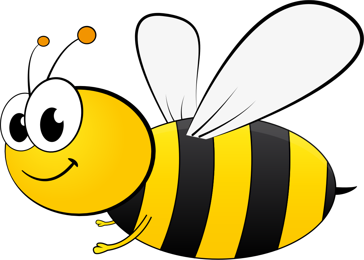 1177x840 Cartoon Bee By @gdj, Cartoon Bee From Pixabay., On @openclipart