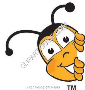 282x300 Cartoon Clipart Bee Peeking