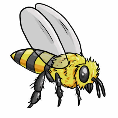 400x400 Cute Bee Clip Art Love Bees Cartoon More 2