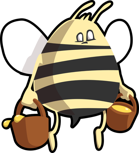 455x500 97 Honey Bee Clip Art Free Public Domain Vectors