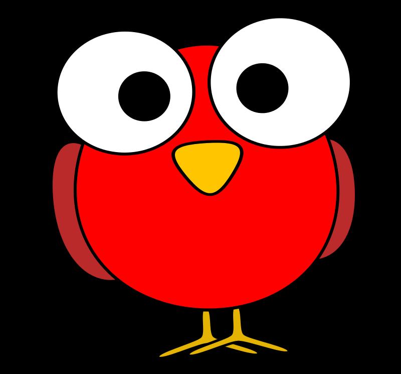 800x745 Free Clipart Red Googley Eye Bird Ruthirsty