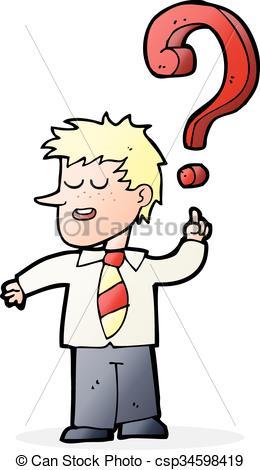 260x470 Cartoon School Boy With Question. Cartoon School Boy Asking
