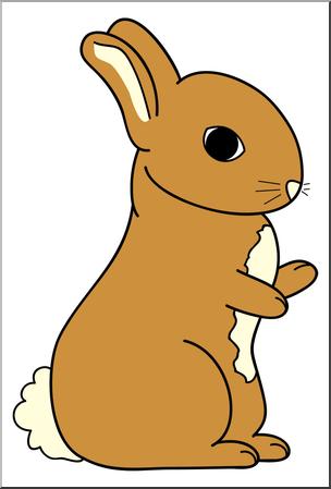 304x449 Clip Art Cartoon Bunny 2 Color 2