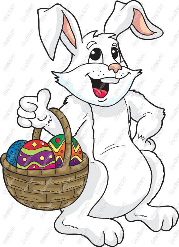 580x800 Easter Bunny Cartoon Clipart