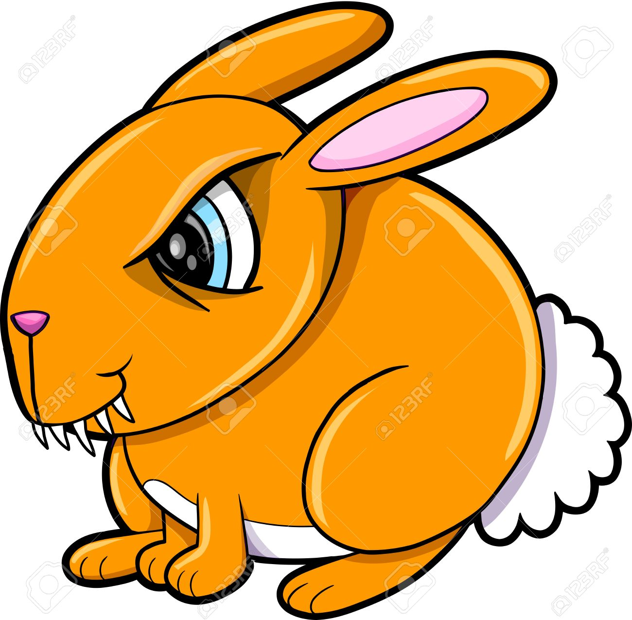 1300x1275 Orange Clipart Bunny