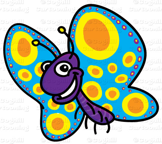 540x482 Cartoon Butterfly Clip Art Stock Illustration