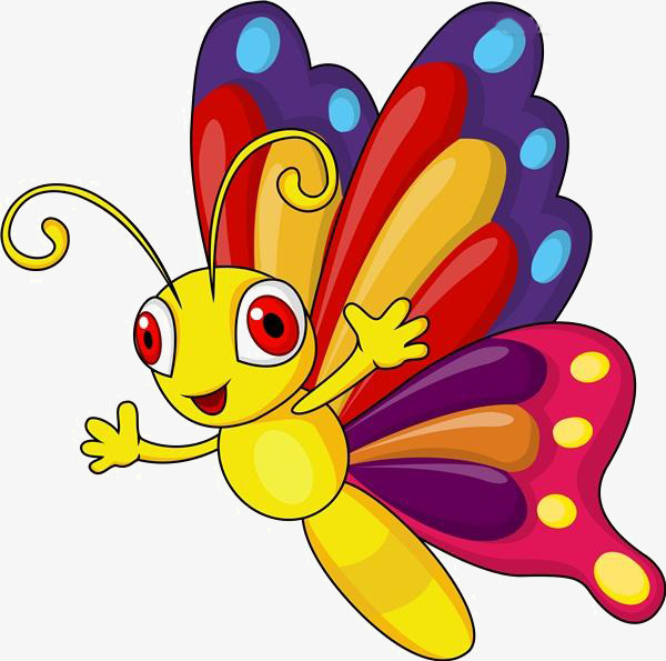 600x595 Cartoon Butterfly Material, Cartoon, Butterfly Material, Flying