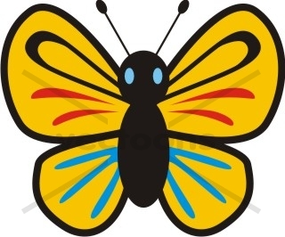 320x266 Cute Butterfly Cartoon