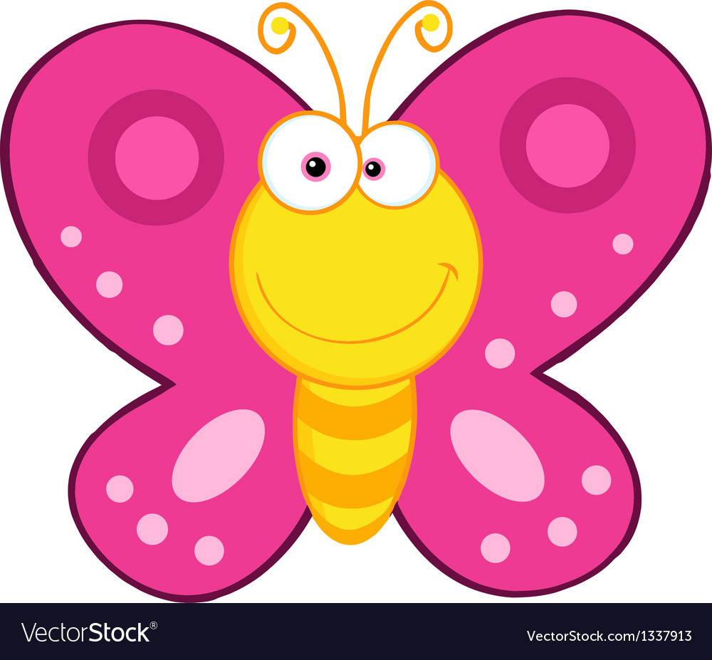 1000x927 Exciting Cartoon Image Of Butterfly Cute Mascot Character Royalty