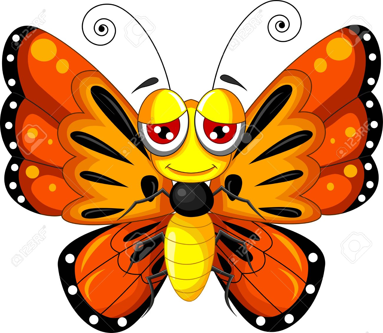 1300x1131 Largest Cartoon Image Of Butterfly Black And White Monarch Free