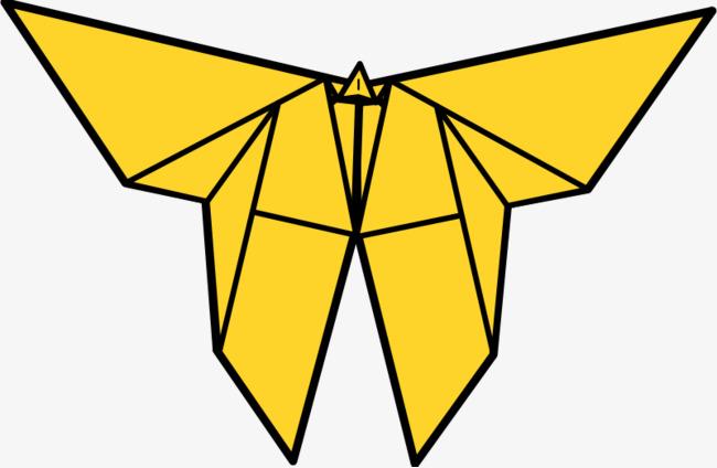 650x424 Yellow Cartoon Origami Butterfly, Cartoon, Cartoon Butterfly