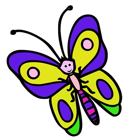 427x472 Butterfly Clipart