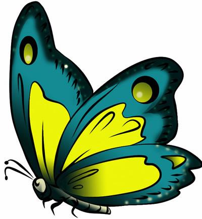 400x434 Butterfly Clip Art 3