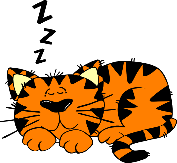 600x554 Cartoon Cat Sleeping Sleeping Cat 1 Clip Art