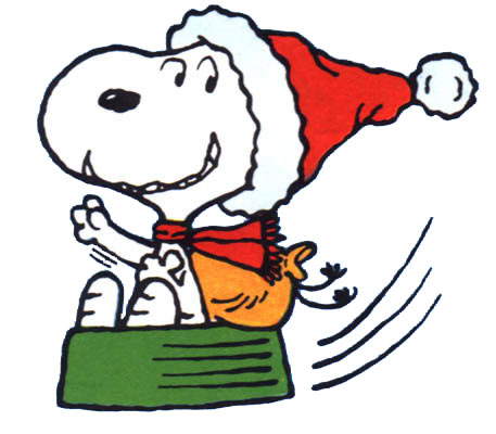 457x400 Cartoons Clip Art Christmas Snoopy