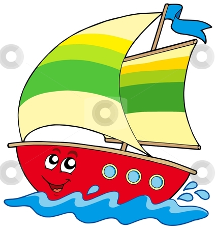 425x450 Cartoon Images Of Boats Coloring To Good Free Sailboat Clip Art