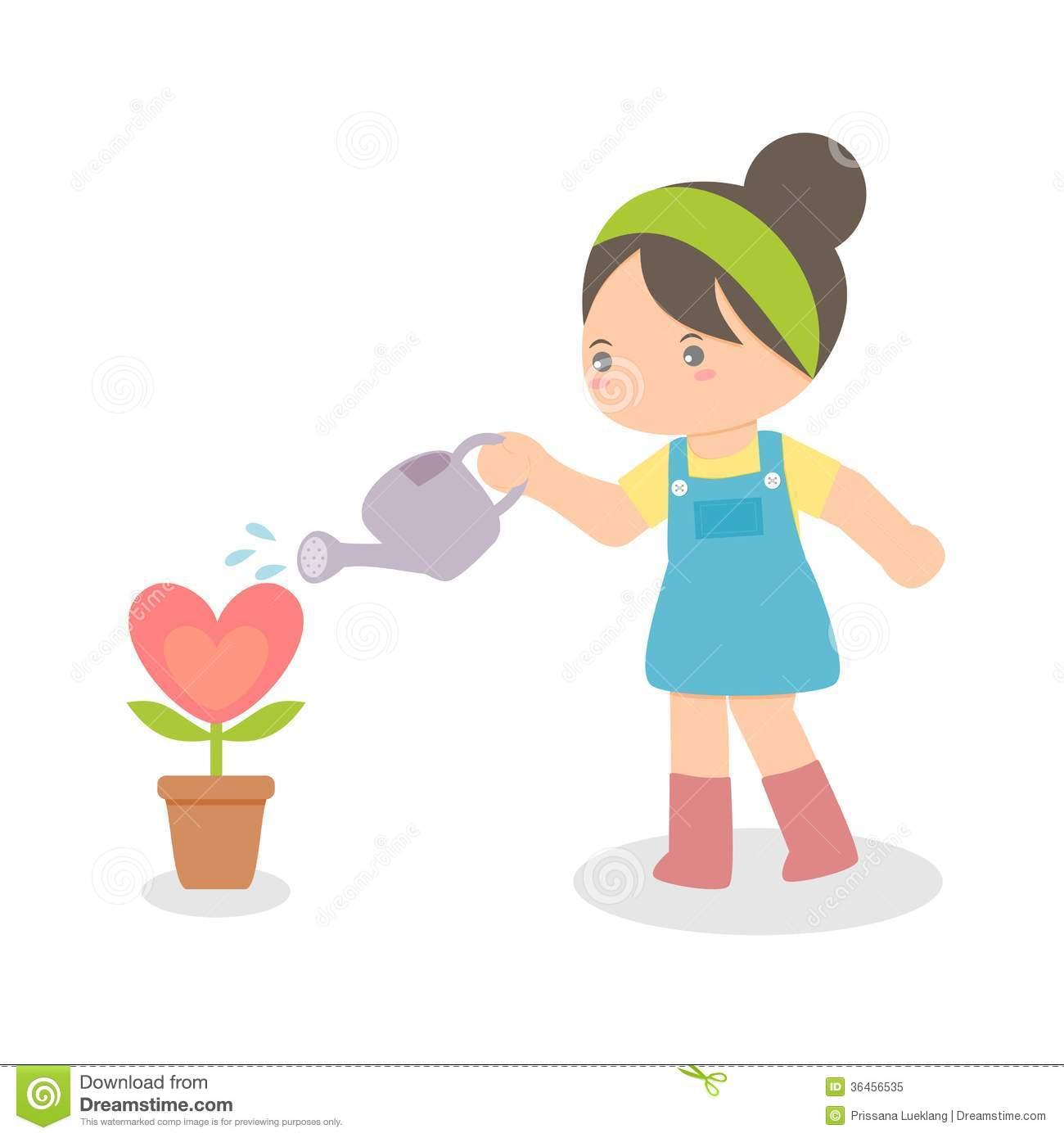 1300x1390 Children Planting Flowers Clip Art