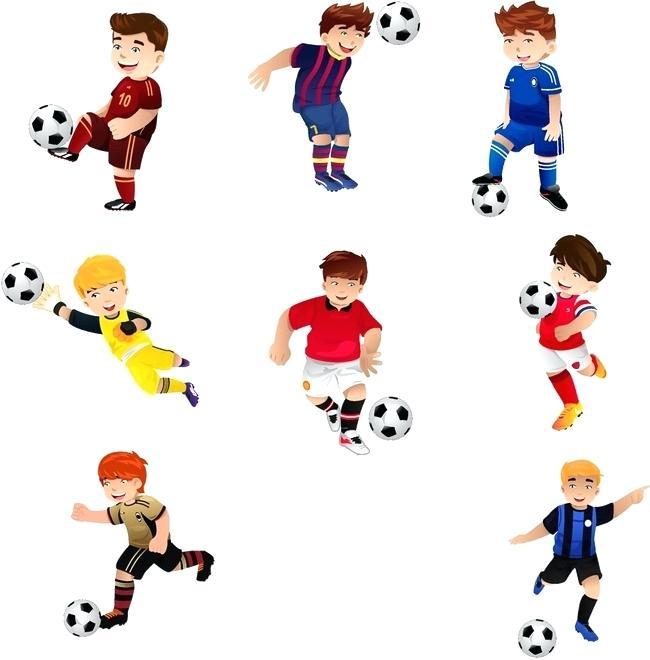 650x660 Clip Art Soccer Player Cartoon Child Football Player Cartoon Image