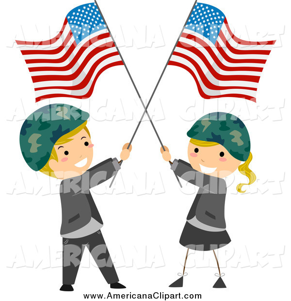 600x620 Americana Vector Cartoon Clip Art Of A Memorial Day Kids Wearing