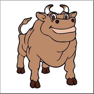 304x304 Clip Art Cartoon Cow Bull Color I Abcteach