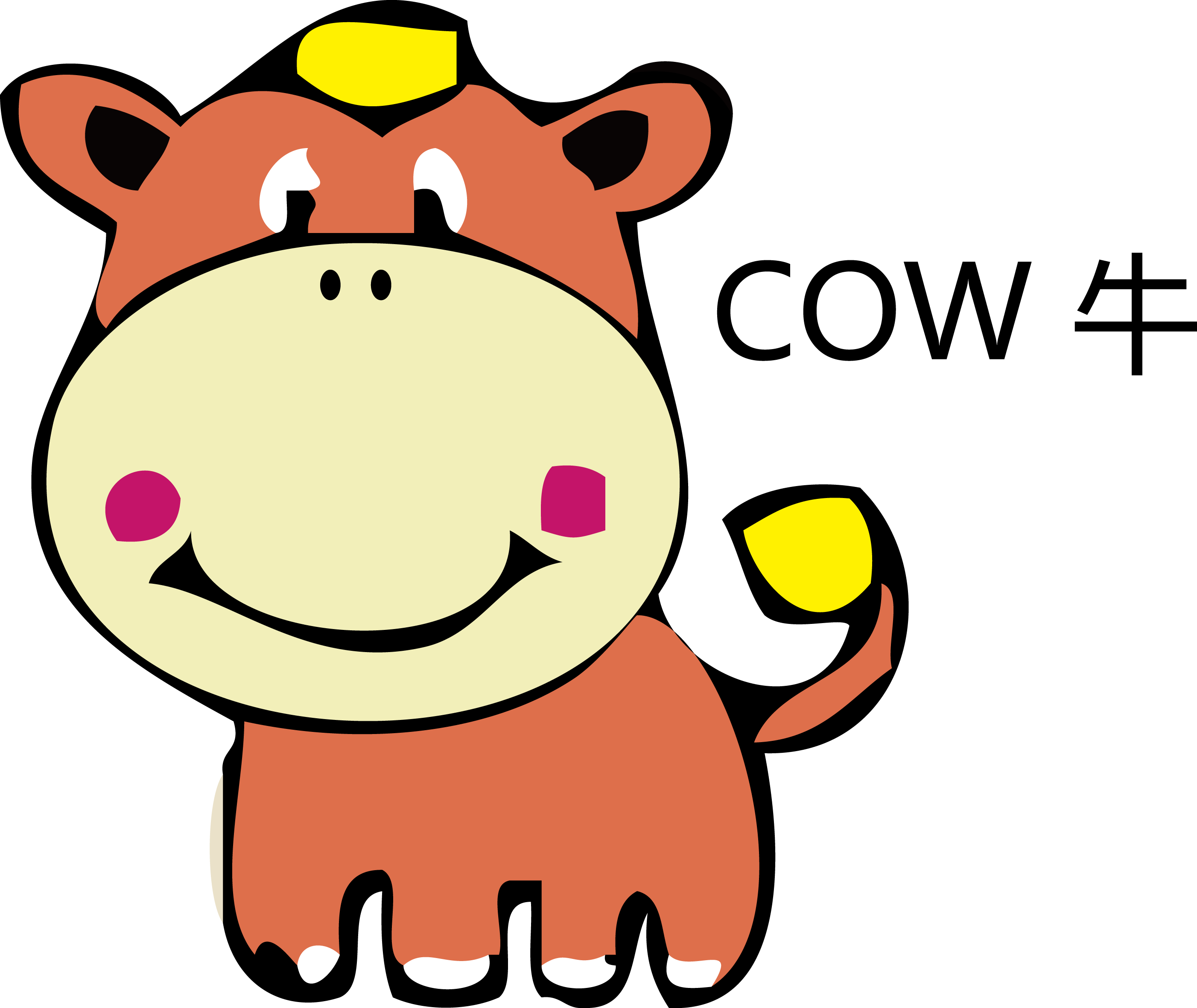 Cartoon Cow Clipart at GetDrawings com | Free for personal