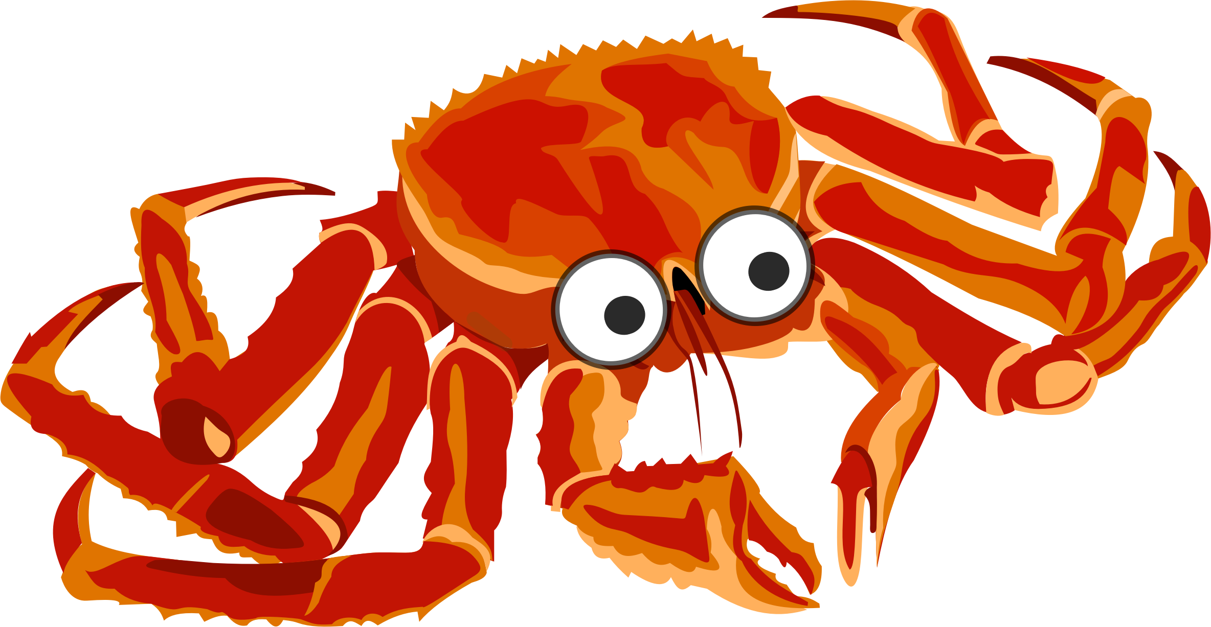 2368x1227 Cartoon Crab 2 Icons Png