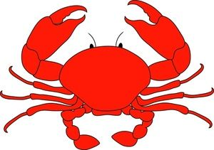 300x211 Cartoon Crab Clipart