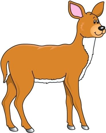 369x465 Deer Clipart Free Free Cartoon Deer Free Deer Head Silhouette