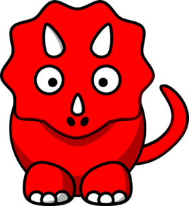 276x300 Red Dino Clip Art