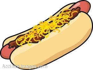 300x227 Clip Art Of A Cartoon Chili Dog With Cheese