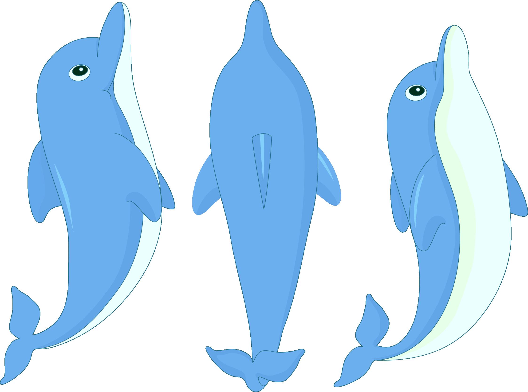 2246x1668 Dolphin Cartoon Clip Art