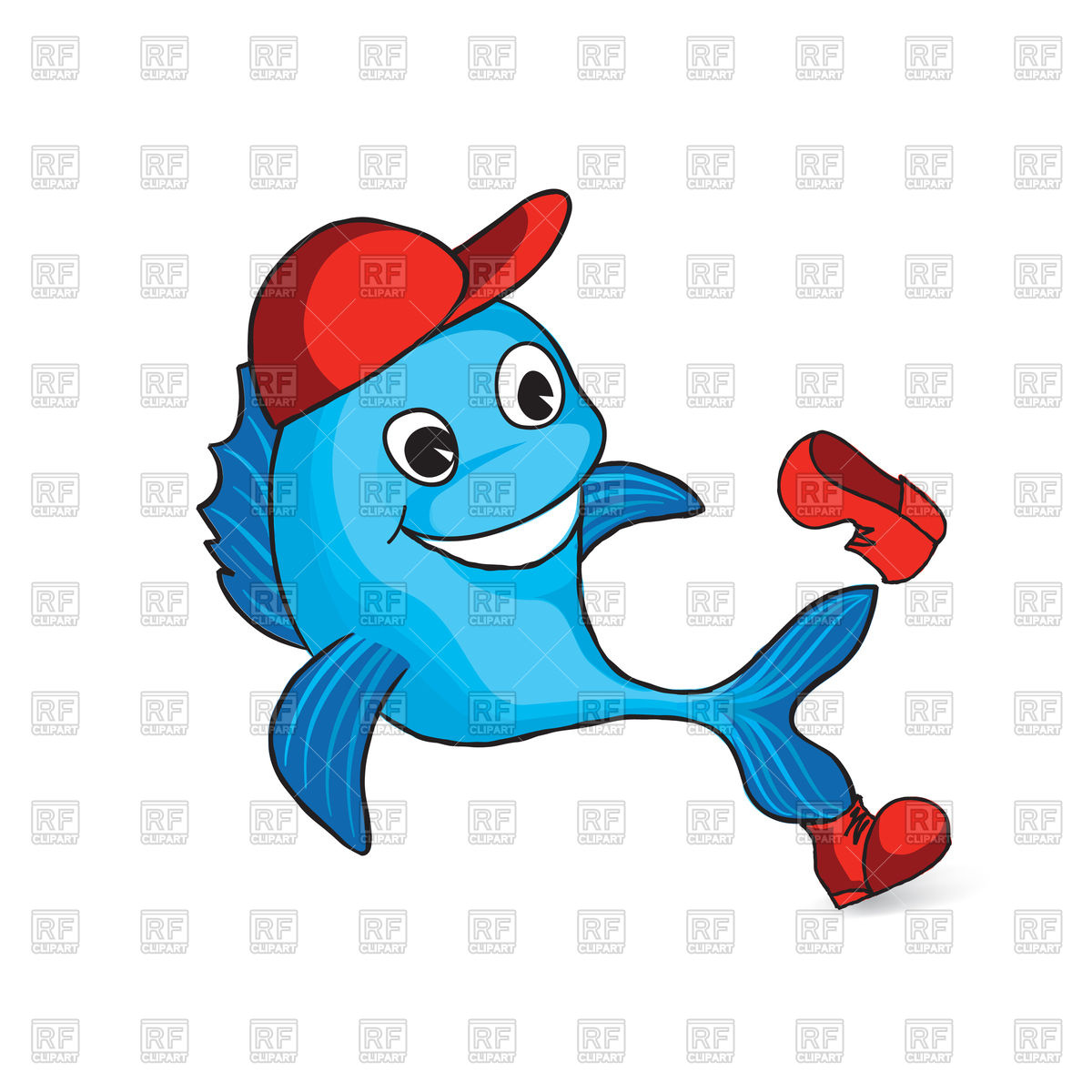 1200x1200 Funny Cartoon Dolphin In Cap And Shoe Royalty Free Vector Clip Art