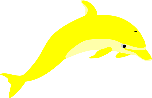 600x387 Yellow Dolphin Clip Art