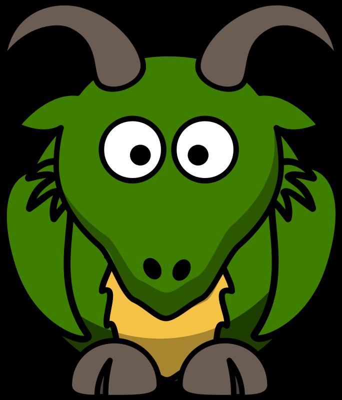 684x800 Cartoon Dragon Clipart