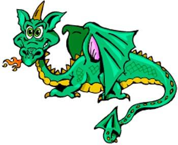 350x286 Cartoon Dragon Clipart