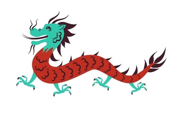 650x434 Vector Color Cartoon Dragon Dragon Vector Dragon Printable