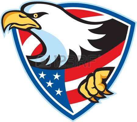 450x400 Bald Eagle Clipart Red White Blue