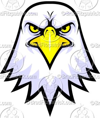 324x382 Bald Eagle Face Logo Clipart