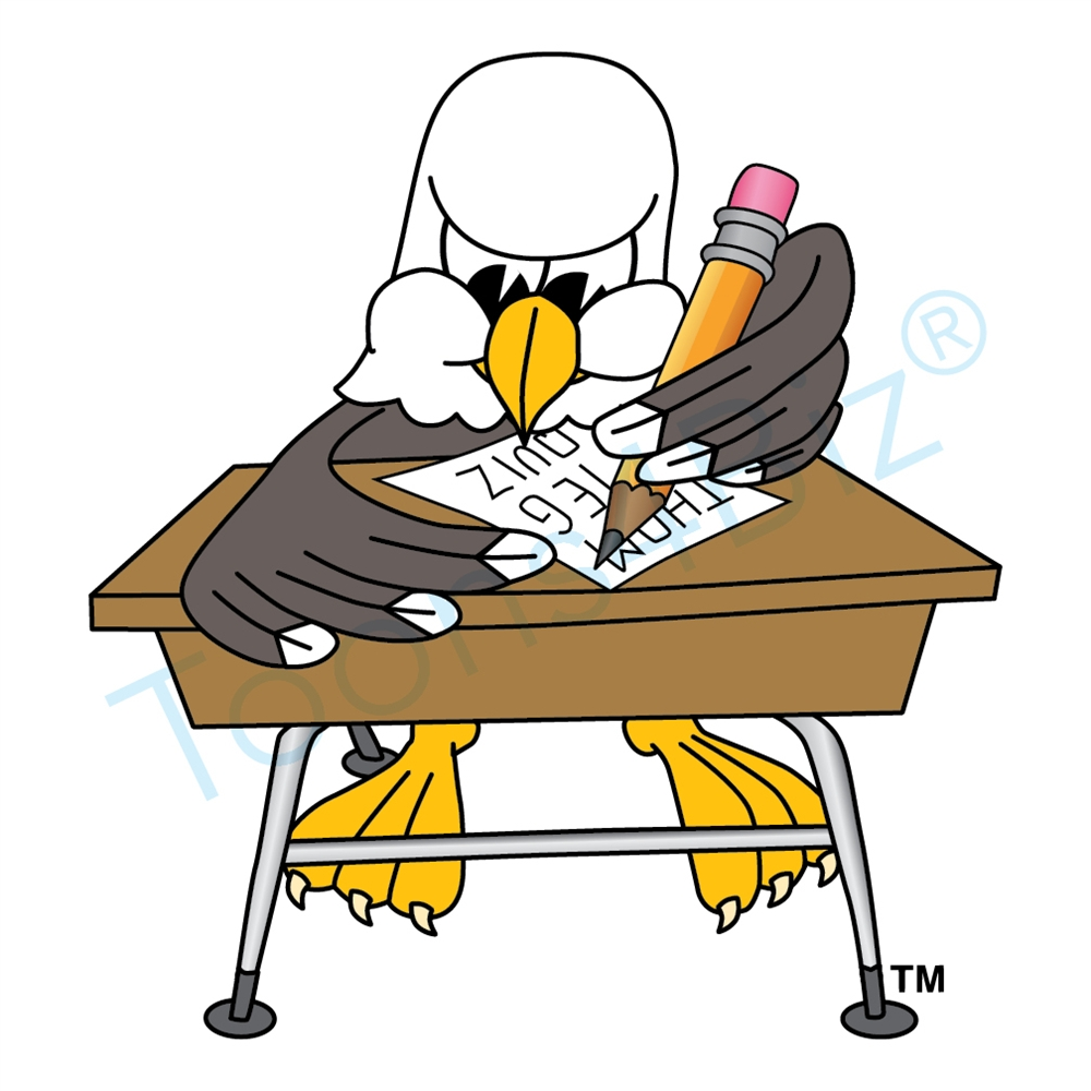 1000x1000 Bald Eagle Mascot Writing