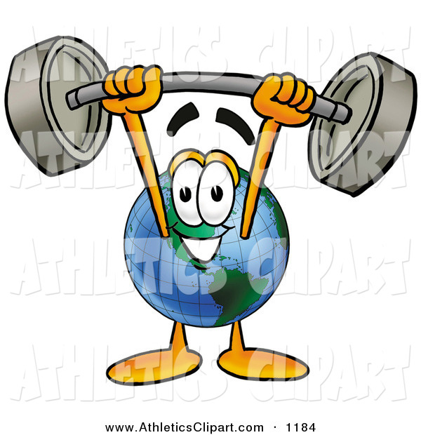 600x620 Clip Art Of A Strong World Earth Globe Mascot Cartoon Character