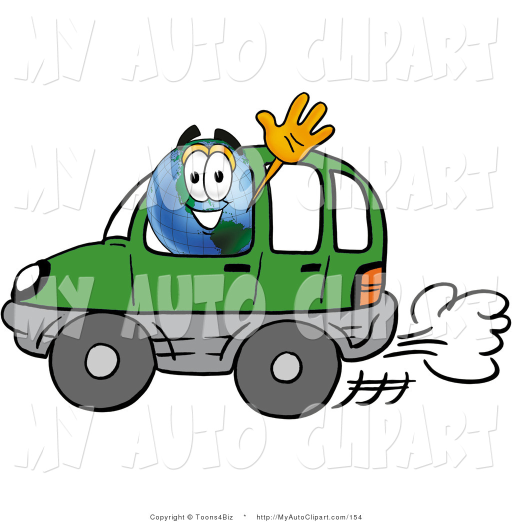 1024x1044 Cliprt Of World Earth Globe Mascot Cartoon Character Driving