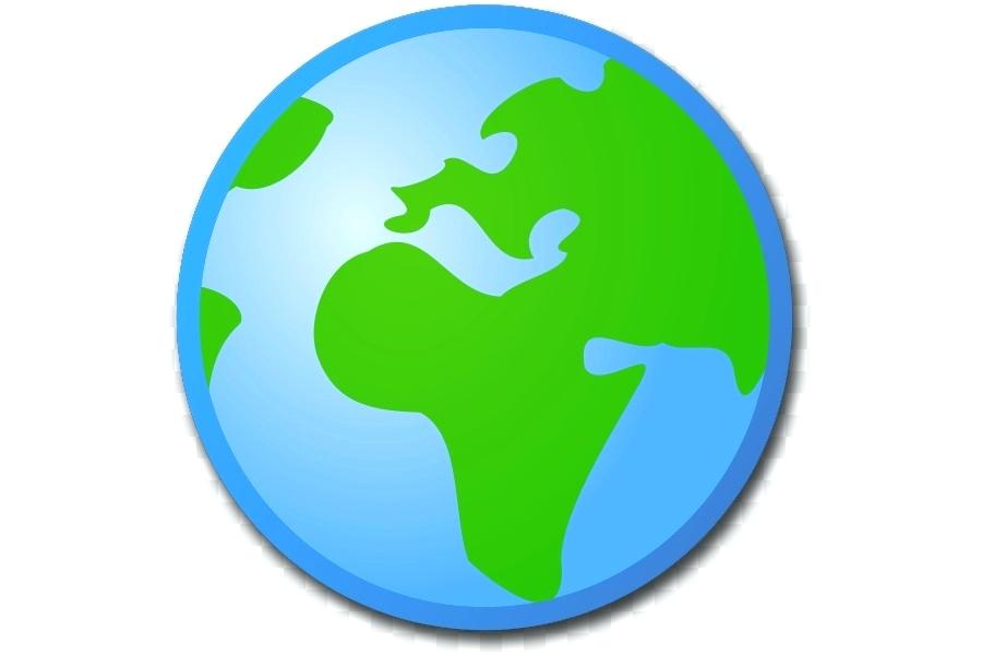 900x600 World Globe Clip Art Aqua Color World Globe World Globe Clipart