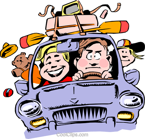 480x461 Cartoon Family Vacation Royalty Free Vector Clip Art Illustration