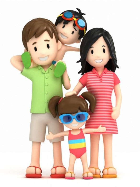 585x780 3d Happy Family 17 Summer Happy Family, 3d